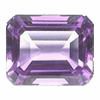 8x6 mm Emerald Cut Brazilian Amethyst in A Grade