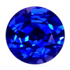 5.5 mm Round Blue Sapphire in AA Grade
