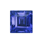 4 mm Square Shape Simulated Tanzanite in Fine Grade