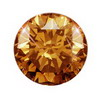 5.5 mm (0.66 Ct.) Champagne Diamond I1/I2 clarity
