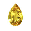 75 ct. Pear Rare Large Golden Fluorite