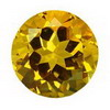 3 mm Round Golden Citrine in AA Grade