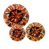 1 Ct twt Cognac Red Diamond Lot size 1.3-3.0 mm(0.01-0.10 cts)