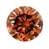 0.81 Carat Round Cognac Red Diamond I1 Clarity
