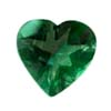 5 mm Heart Green Tourmaline in AA grade