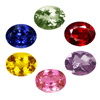 25 Carats Oval Multi Color Sapphire Lot in Size 6x4 mm