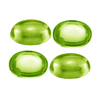 86.74 Ct Twt Oval Cabochon Peridot Lot Size 9x7 mm
