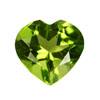 6 mm Heart Shape Peridot in AAA Grade