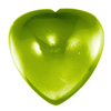 7 mm Heart Peridot Cabochon in AAA Grade