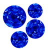 10 Carats Round Blue Sapphire A Lot 1-3 mm