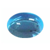 10x8 mm Oval Swiss Blue Topaz Cabochon in AAA Grade