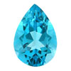 10x7 mm Pear Shape Swiss Blue Topaz in AA Grade