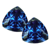 0.70 Carats Twt. Trillion Tanzanite Pair