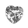 8 mm Heart White Topaz in AAA Grade
