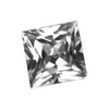 8 mm Square White Topaz in AAA Grade