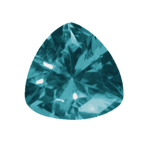 Image 1 of product 4 mm Trillion Blue Tourmaline in AA grade